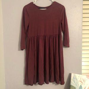 Maroon babydoll dress